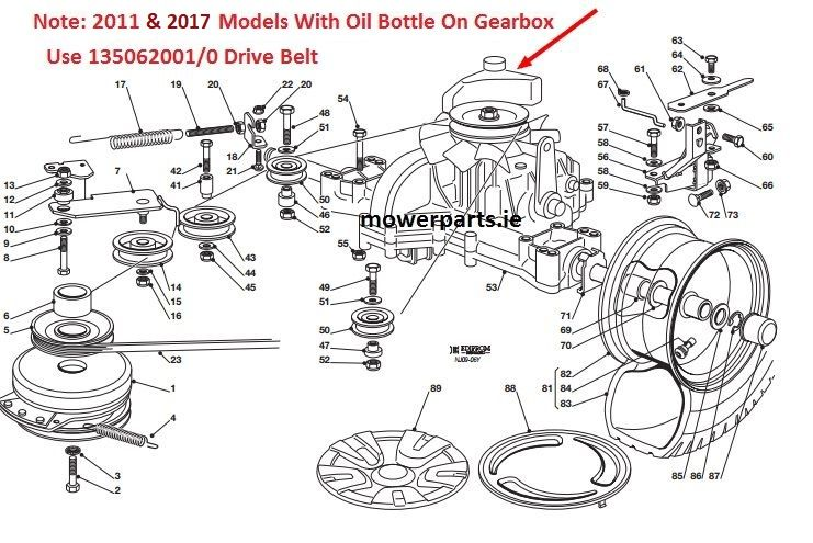 castelgarden 92cm  36 u0026quot   motion drive belt  hydro only from
